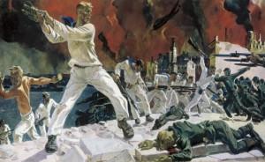 """А. А. Дейнека, """"Оборона Севастополя"""" (1942)"""