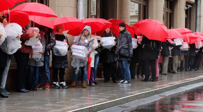 Пикет в день подписания закона о повышения пенсионного возраста